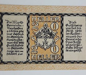 Foreign banknote of the beautiful design of Net Gold in Germany (100 years old)-jij