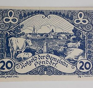 Foreign banknote of the beautiful design of Net Gold in Germany (100 years old)-ihh