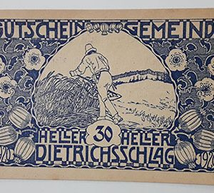 Foreign banknote of the beautiful design of Net Gold in Germany (100 years old)-inn