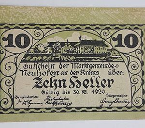 Foreign banknote of the beautiful design of Net Gold in Germany in 1920-ibb