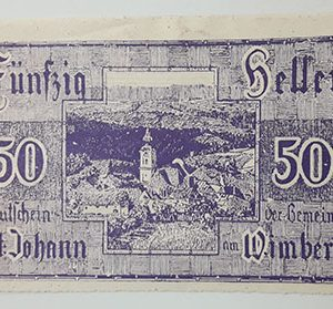 Foreign banknote of the beautiful design of Net Gold in Germany in 1920-aaz