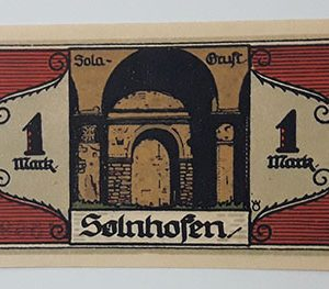 Foreign banknote of the beautiful design of Net Gold in Germany (100 years old)-ccb