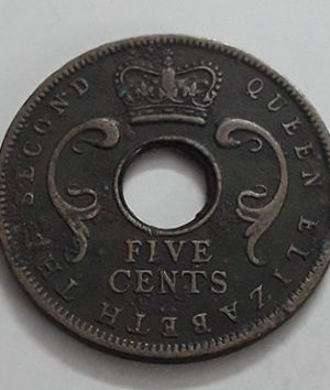 Foreign currency of East Africa British colony of Queen Elizabeth 1956-ccm