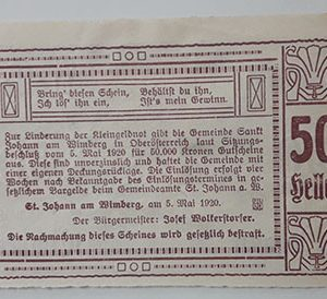 Foreign banknote of the beautiful design of Net Gold in Germany in 1920-zaz