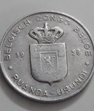 Foreign currency of the Congo, the colony of Belgium in 1958-gag