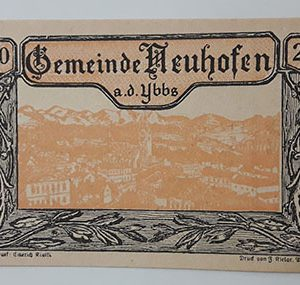 Foreign banknote of the beautiful design of Net Gold in Germany (100 years old)-aal