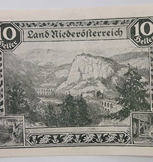Foreign banknote of the beautiful design of Net Gold, Germany, 1920 (100 years old)-aax