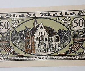 Very beautiful and valuable foreign banknote of Net Gold, Germany (100 years old)-waw