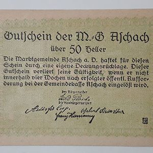 Foreign banknote of the beautiful design of Net Gold in Germany (100 years old)-eae