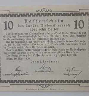 Foreign banknote of the beautiful design of Net Gold, Germany, 1920 (100 years old)-xax