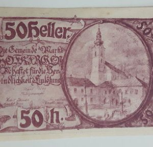 Foreign banknote of the beautiful design of Net Gold in Germany in 1920-aap