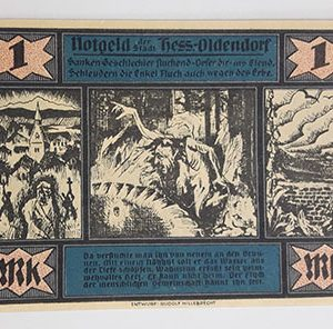 Foreign banknote of Net Gold vampire design, Germany (100 years old)-bbx