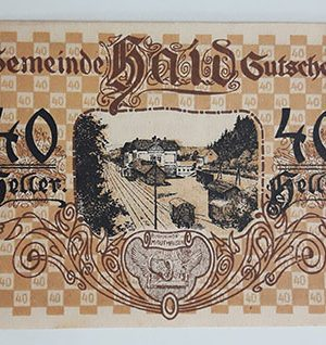 Foreign banknote of the beautiful design of Net Gold in Germany (100 years old)-aav