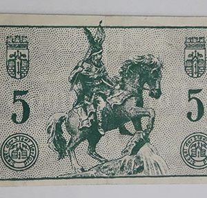 Foreign banknote of the beautiful design of Net Gold in Germany (100 years old)-bbh