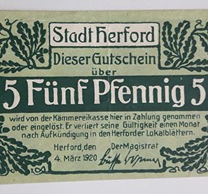 Foreign banknote of the beautiful design of Net Gold in Germany (100 years old)-hbh