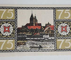 Foreign banknote of the beautiful design of Net Gold of Germany in 1921-bbk