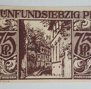 Foreign banknote of the beautiful design of Net Gold of Germany in 1921-ubu