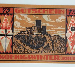 Foreign banknote of the beautiful design of Net Gold of Germany in 1921-bbi