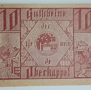 Foreign banknote of the beautiful design of Net Gold in Germany (100 years old)-pff