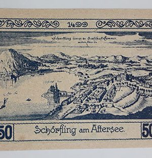Foreign banknote of the beautiful design of Net Gold in Germany in 1920-uio
