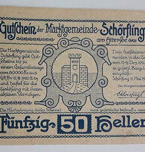 Foreign banknote of the beautiful design of Net Gold in Germany in 1920-oiu