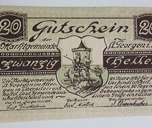 Foreign banknote of the beautiful design of Net Gold in Germany (100 years old)-nmq