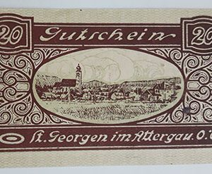 Foreign banknote of the beautiful design of Net Gold in Germany (100 years old)qmn