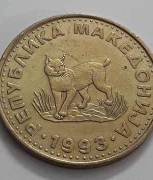 Foreign coin of the beautiful design of Macedonia in 1993-xox