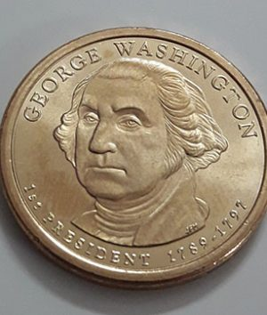 One US Dollar Commemorative Foreign Coin Washington (Banking Quality)-xwx