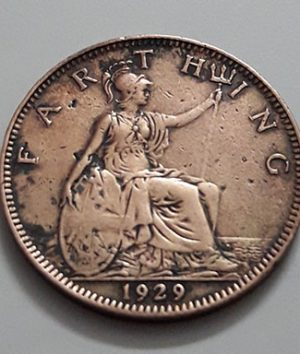 Extremely rare and valuable Farting coin of George V of Britain in 1929-jum