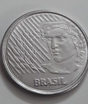 Foreign coin of beautiful design of Brazil, unit 5, 1994-xaa