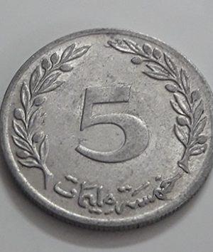 Foreign coin of the rare design of Tunisia in 1983-axu