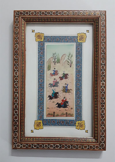 A very beautiful and old design painting with a very valuable frame-edr