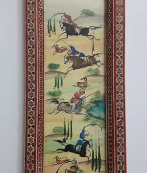 A very beautiful and old design painting with a very valuable frame-qaw