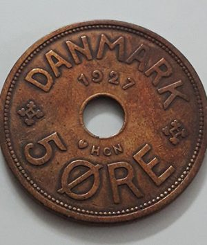 Foreign currency of Denmark, unit 5, 1927-daa