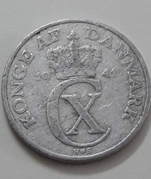 A very rare foreign coin of Denmark in 1941-uaa