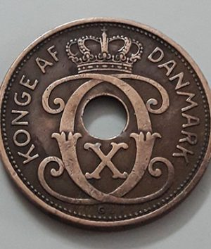 Extremely rare and valuable foreign coin of Denmark in 1936, rarely seen in Iran-waw