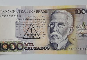 Foreign banknote of beautiful design of Brazil, unit 1000 (bank quality)-qdd