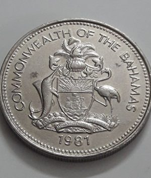 Foreign coin of the rare design of the Bahamas in 1981-bwb