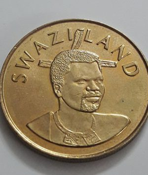 Foreign coin of very rare design and large size of Swaziland in 2008-wjj