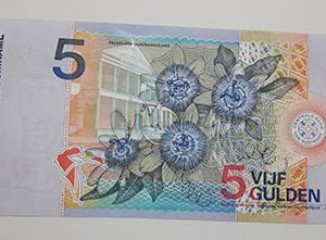 Collectible foreign banknotes and a very beautiful design of Suriname-dtd