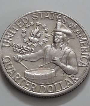 1976 US Quarter Commemorative Collectible Foreign Coin-uee