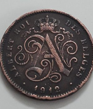 Collectible foreign coin, beautiful design of Belgium, 1912-uii