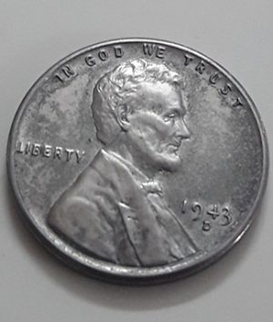 Rare collectible foreign coin of a traditional American steel 1943 D Lincoln image-imm