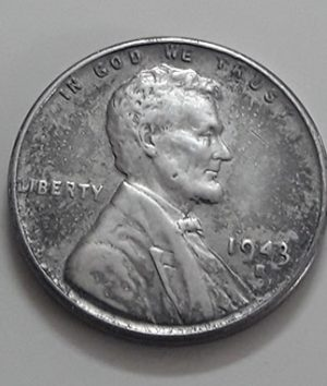 Rare collectible foreign coin of a traditional American steel 1943 S Lincoln image-idd