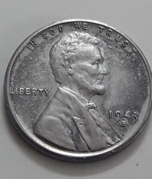 Rare collectible foreign coin of a traditional American steel 1943 S Lincoln image-igg