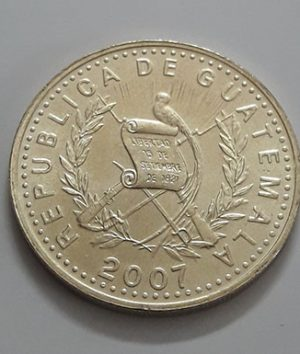 Collectible foreign coins of the beautiful design of Guatemala in 2007-yiy