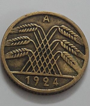 Collectible foreign coin, beautiful design of Germany, 1924-ipp