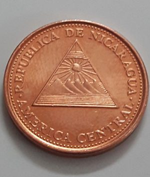 Collectible foreign coin of rare design of Nicaragua in 2002-yoo