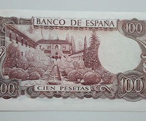 Collectible and beautiful foreign banknotes of Spain in 1970 (bank quality)-fef